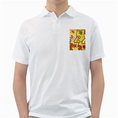 Abstract Faces Abstract Spiral Golf Shirts