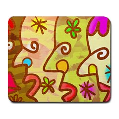 Abstract Faces Abstract Spiral Large Mousepads