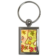 Abstract Faces Abstract Spiral Key Chains (rectangle)