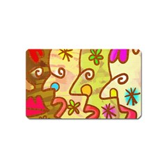 Abstract Faces Abstract Spiral Magnet (name Card)