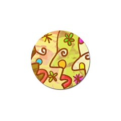 Abstract Faces Abstract Spiral Golf Ball Marker