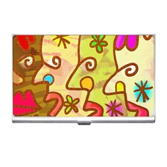 Abstract Faces Abstract Spiral Business Card Holders