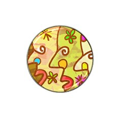Abstract Faces Abstract Spiral Hat Clip Ball Marker (4 Pack)