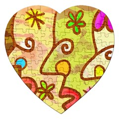 Abstract Faces Abstract Spiral Jigsaw Puzzle (heart)