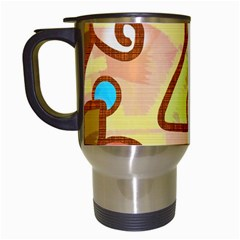 Abstract Faces Abstract Spiral Travel Mugs (white)