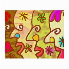 Abstract Faces Abstract Spiral Small Glasses Cloth