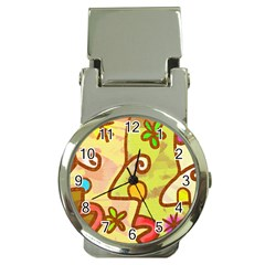 Abstract Faces Abstract Spiral Money Clip Watches