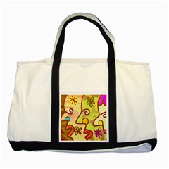 Abstract Faces Abstract Spiral Two Tone Tote Bag