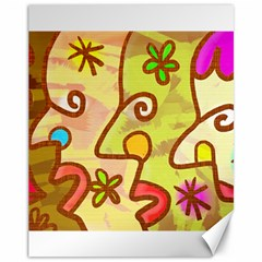 Abstract Faces Abstract Spiral Canvas 11  X 14