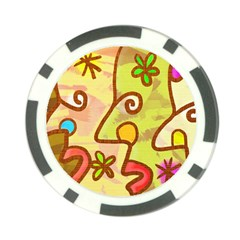 Abstract Faces Abstract Spiral Poker Chip Card Guard