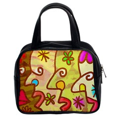 Abstract Faces Abstract Spiral Classic Handbags (2 Sides)