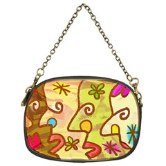 Abstract Faces Abstract Spiral Chain Purses (one Side)