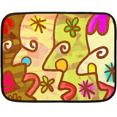 Abstract Faces Abstract Spiral Double Sided Fleece Blanket (mini)
