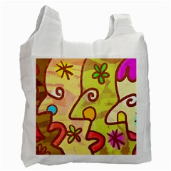 Abstract Faces Abstract Spiral Recycle Bag (one Side)