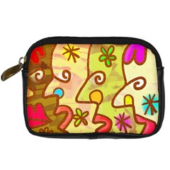 Abstract Faces Abstract Spiral Digital Camera Cases