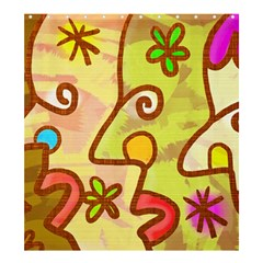 Abstract Faces Abstract Spiral Shower Curtain 66  X 72  (large)