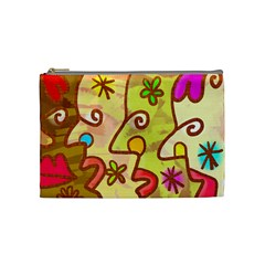 Abstract Faces Abstract Spiral Cosmetic Bag (medium)