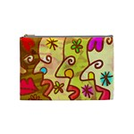 Abstract Faces Abstract Spiral Cosmetic Bag (Medium)  Front