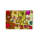 Abstract Faces Abstract Spiral Cosmetic Bag (Medium)  Back