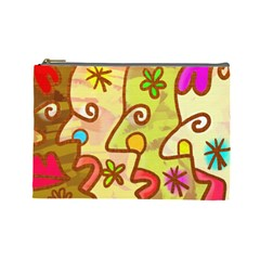 Abstract Faces Abstract Spiral Cosmetic Bag (large)