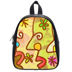Abstract Faces Abstract Spiral School Bags (small)