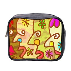 Abstract Faces Abstract Spiral Mini Toiletries Bag 2 Side