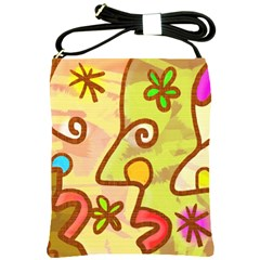 Abstract Faces Abstract Spiral Shoulder Sling Bags