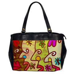 Abstract Faces Abstract Spiral Office Handbags