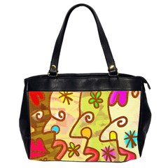 Abstract Faces Abstract Spiral Office Handbags (2 Sides)
