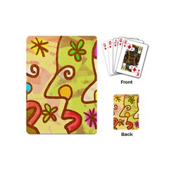 Abstract Faces Abstract Spiral Playing Cards (mini)