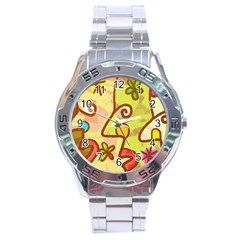 Abstract Faces Abstract Spiral Stainless Steel Analogue Watch