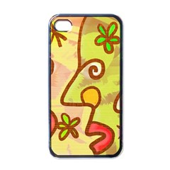 Abstract Faces Abstract Spiral Apple Iphone 4 Case (black)