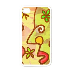 Abstract Faces Abstract Spiral Apple Iphone 4 Case (white)