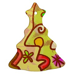 Abstract Faces Abstract Spiral Christmas Tree Ornament (two Sides)