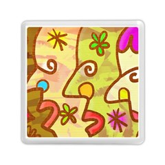 Abstract Faces Abstract Spiral Memory Card Reader (square)