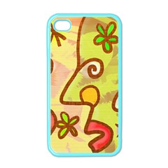Abstract Faces Abstract Spiral Apple Iphone 4 Case (color)