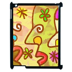 Abstract Faces Abstract Spiral Apple Ipad 2 Case (black)
