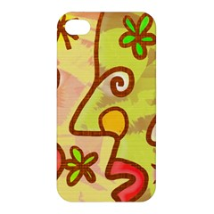 Abstract Faces Abstract Spiral Apple Iphone 4/4s Hardshell Case