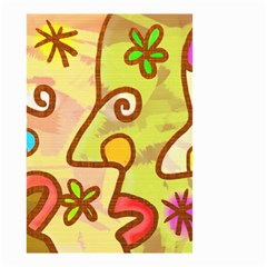 Abstract Faces Abstract Spiral Small Garden Flag (two Sides)