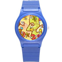 Abstract Faces Abstract Spiral Round Plastic Sport Watch (s)