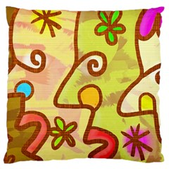 Abstract Faces Abstract Spiral Large Cushion Case (two Sides)