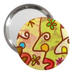 Abstract Faces Abstract Spiral 3  Handbag Mirrors