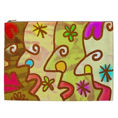Abstract Faces Abstract Spiral Cosmetic Bag (XXL)