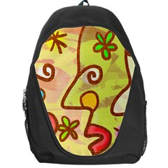 Abstract Faces Abstract Spiral Backpack Bag