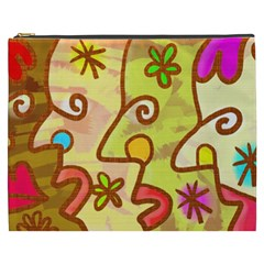 Abstract Faces Abstract Spiral Cosmetic Bag (xxxl)