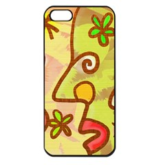 Abstract Faces Abstract Spiral Apple Iphone 5 Seamless Case (black)