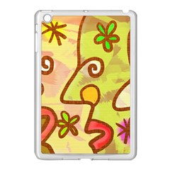 Abstract Faces Abstract Spiral Apple Ipad Mini Case (white)