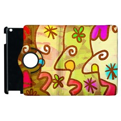 Abstract Faces Abstract Spiral Apple Ipad 2 Flip 360 Case