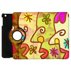 Abstract Faces Abstract Spiral Apple Ipad Mini Flip 360 Case