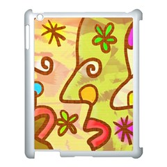 Abstract Faces Abstract Spiral Apple Ipad 3/4 Case (white)